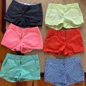 "4"" J. Crew Chino Shorts Women (Coral Pink)"